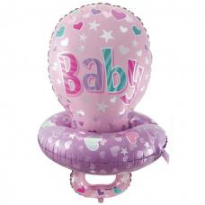 Фольгированный шар (32''/81 см) Фигура, Соска для девочки