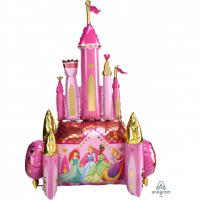 """Шар (54''/137 см) """"Ходячая Фигура, Сказочный Замок, Принцессы Диснея"""""""