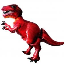 Шар (68''/173 см) Ходячая Фигура, Динозавр, Красный