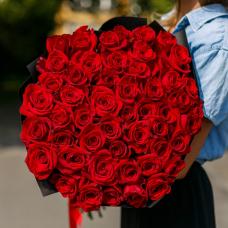 """Роза """"Россия"""" 101 шт. (50 см)"""