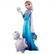 Воздушный шар (57''/145 см) Ходячая Фигура, Холодное сердце Принцесса Эльза