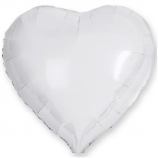 "Сердце 18""/46 см ""Белый"""