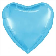 "Сердце 18""/46 см ""Голубой"""